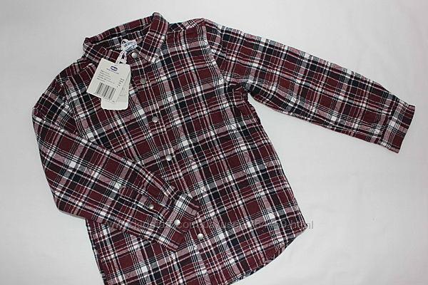 Рубашка байковая Chicco на трикотажной подкладке р 128