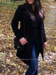 Классическое черное пальто, маст-хэв, шерсть, кашемир, 38р