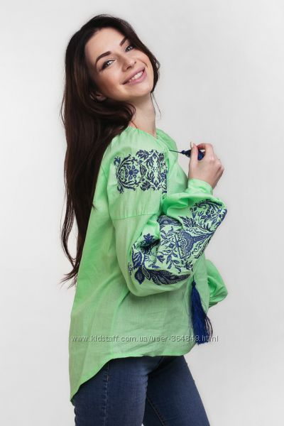 Блузы с вышивкой в этностиле -  5 вариантов