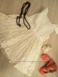 Нарядное кружевное платье для маленькой леди Next 2-3г
