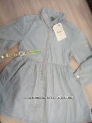 Джинсовое платье 5-6 лет