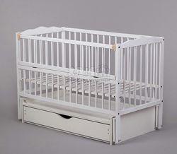 Кроватка кровать детская Новые белая лакированная Маятник