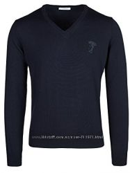 Синий свитер Versace Collection M L XL XXL Оригинал. 100 Lana Wool шерсть