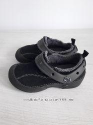 Удобные ботиночки Сrocs C11 деми утепленные натуральная замша