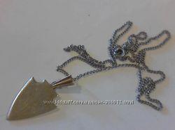 Кулон с цепочкой позолоченные СССР из серебра