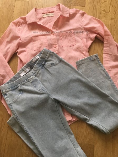 Рубашка и джеггинсы Mango 9-10 лет 140 рост