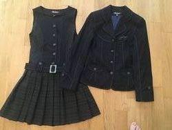 Школьный костюм Helena сарафан и пиджак рост 134 см