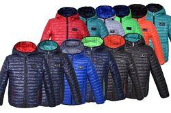 Курточка демисезонная двухсторонняя для мальчиков р.98-164 разные цвета