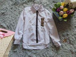 Рубашка в школу для девочки с пайетками