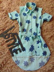 супер-модные платья-рубашки с открытыми плечами 128-164р