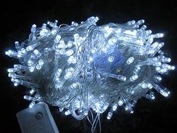 Гирлянда новогодняя , белый цвет свечения , 500 LED , 40 метров .