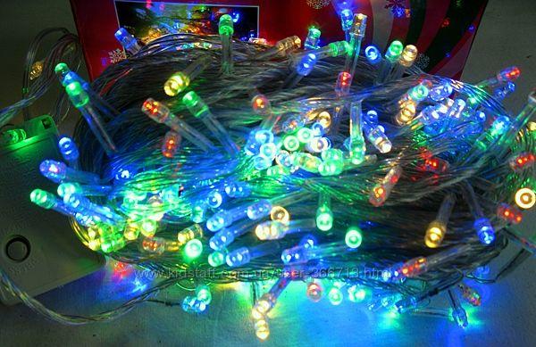Гирлянда светодиодная , 300 LED , разноцветная