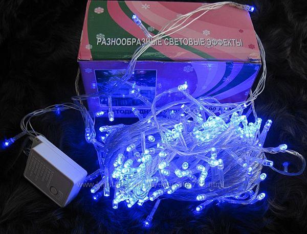 Гирлянда праздничная , 300 LED синего цвета свечения