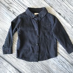 18-24 мес Рубашка F&F темно синяя