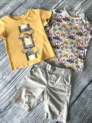 2-3 года комплект футболки и шорты next