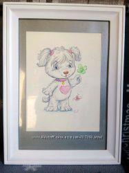 Картина в детскую Собачка Соня