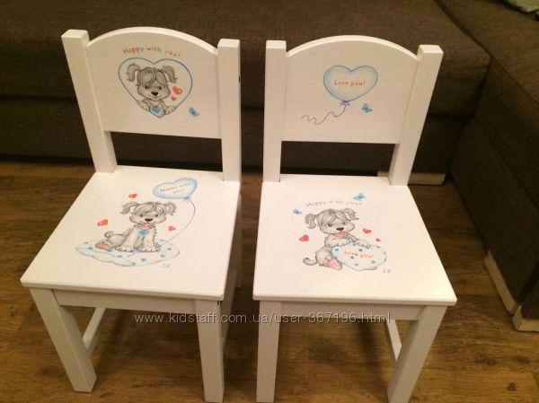 Стульчики детские IKEA с росписью. По заказ.