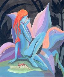 Картина Дух Цветка 50х60 см print на холсте