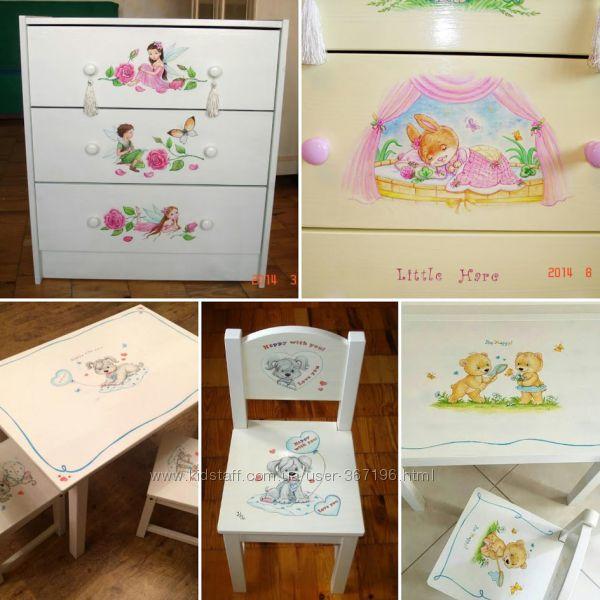 Мебель с художественной росписью