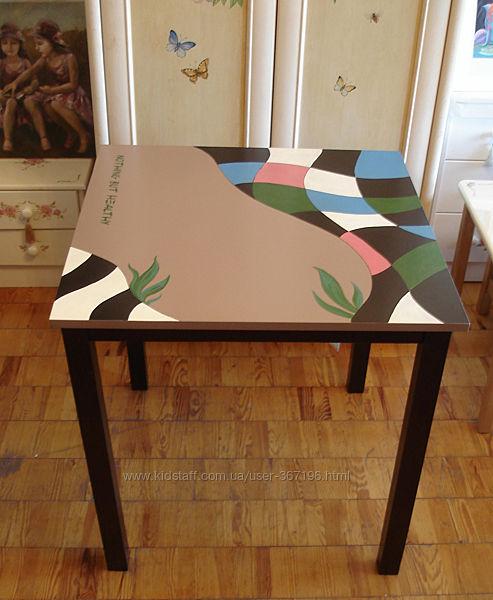 Роспись мебели, столов для кафе