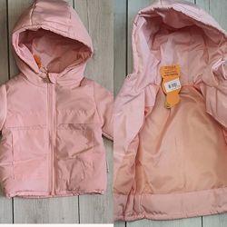 Рожева весняна куртка на дівчинку