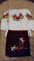 Комплект вышиванка и юбка
