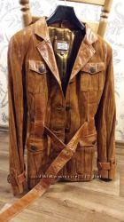 Натур. кожаная куртка в сост. новой, утеплитель