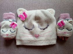 Прелесный набор шарка-варежки-перчатки, зима, Совушки