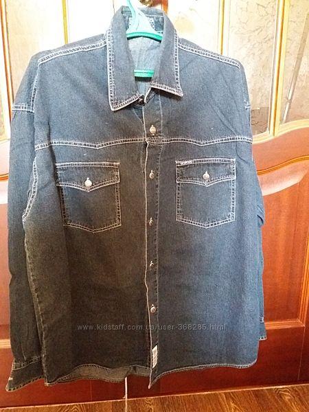 Джинсовая рубашка ХХL