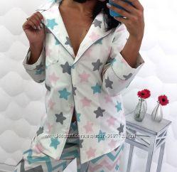 Женская, стильная хлопковая пижама
