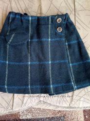 Теплая юбка ZARA для школьницы.