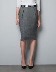 Теплая юбка Zara шерсть размер S