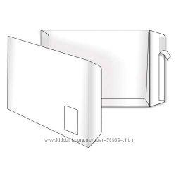 Пакеты С4 00 СКЛ с окном вверху 250 шт. в уп.