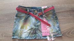 Джинсовая юбка на девочек Grace 116-146рост