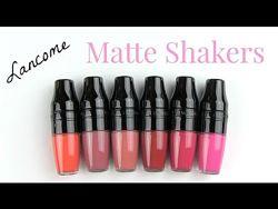 Помады Lancome Matte Shaker Liquid Lipstick и Shine Lover