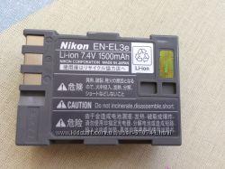 Аккумулятор литиевый 1500 фирменный для фотоаппарата Nikon D80