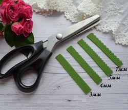 Ножницы фигурные зиг-заг,  волна для ткани, фетра 3мм, 4мм, 5мм, 7мм