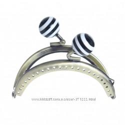 Пришивной потайной фермуар для косметички  карабин застежка арка