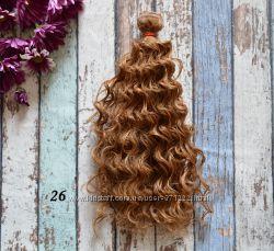 Волосы для реставрации куклы, мокрые кудри, волосы для текстильной куклы