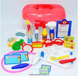 Наборы доктора, игрушки с инструментами. столик доктора