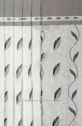 Тюль под  лен с рисунком