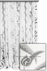 Тюль  полуорганза  с  рисунком Миандр