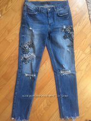 Продам джинси з вишивкою zara