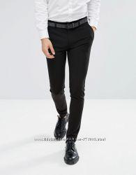 Мужские брюки ASOS Super Skinny Smart Trousers In Black оригинал