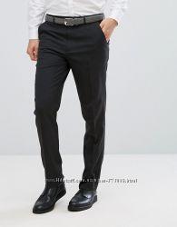 мужские брюки ASOS Slim Smart Trousers In Charcoal оригинал