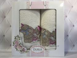 Детские наборы махровых полотенец 2 в 1 лицо баня