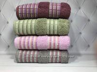 Шикарные хлопковые трикотажные полотенца упаковки по 4 шт