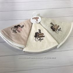 Круглые кухонные полотенца с петелькой упаковки по 3 шт