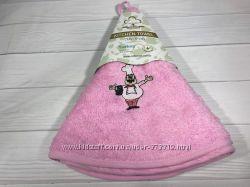 Круглые махровые полотенца с петелькой
