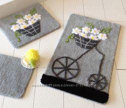 Шикарные наборы ковриков в уборную комнату